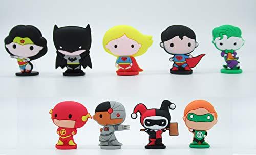 League Set 9 Figuren 5cm Kuchen Topper Cake Topper Original - Batman The Flash Superman Wonder Woman Joker etc. ()
