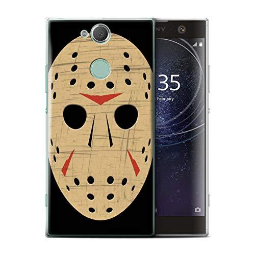 ür Sony Xperia XA2 Plus/Jason Vorhees Maske Inspiriert Muster/Grusel Filmkunst Kollektion ()