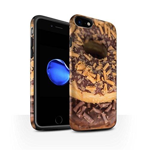 STUFF4 Matte Harten Stoßfest Hülle / Case für Apple iPhone 8 / Toffee Muster / Schmackhafte Donuts Kollektion Toffee