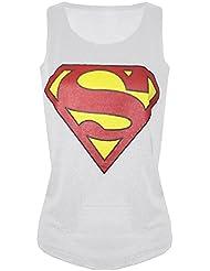 Femmes Ladies dos nageur Superman imprimé étalement de contraste Super Hero Vest Tank Top sweatshirt Taille 36-42