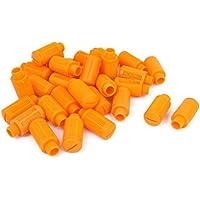 sourcingmap® 1 / 4Bsp Rosca Macho De Plástico Neumático Silenciador De Escape Silenciador De Ruido 30Pcs Naranja