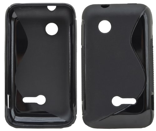 Trendcell TPU Silicon Tasche fuer - Sony Xperia Tipo Dual - Silikon Case Huelle Schutzhuelle in Schwarz