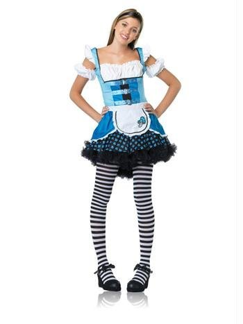 Leg Avenue - Magic Mushroom Alice Kostüm - J48023, Farbe:Schwarz/Blau;Groesse:ML