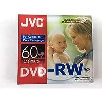 JVC Mini DVD-RW, 2.8Gb, 8cm, 60min, Pack of 5 Camcorder Discs in Jewel Case