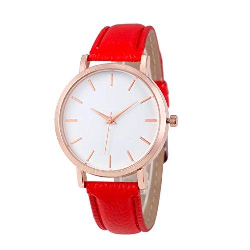 PLOT Damen Quarzuhr Mit Lederarmband | Modisch Klassisch | Armbanduhren Für Frauen | Geschenke Für Frauen | Einstellbar Uhrenband | Quarzwerk | 19mm Bandbreite | 35.5mm...