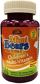 21st Century Mimi Bears Plus Extra C Chew - 60 Tablets