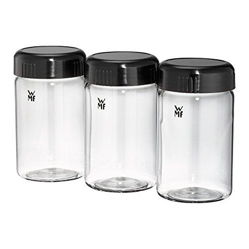 WMF KÜCHENminis Joghurtbecher, 3 Joghurt-to-go-Becher, BPA-frei, Erweiterungsset, à 150 ml, transparent - Glas Joghurt-gläser