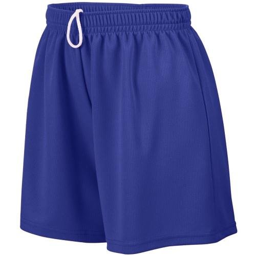 Ladies' Wicking Mesh Short PURPLE XL (Mädchen Wicking Mesh Augusta)
