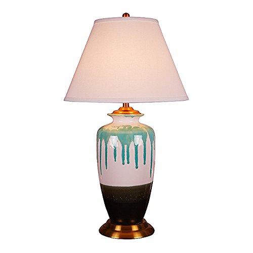 ASL Keramik Tischlampe, Brennofen ändern Keramik Tischlampe Schlafzimmer Nachttischlampe Villa Lampe Hochzeit Zimmer Tuch Tischlampe Leuchten E27 Lampenhalter 40 * 70cm (größe : 40 * 70cm)