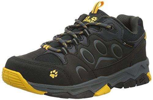 Jack Wolfskin Unisex-Kinder MTN ATTACK 2 TEXAPORE LOW K Trekking- & Wanderhalbschuhe, Grau (burly yellow 3800), 31 EU