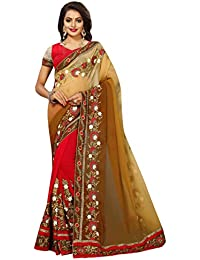 Ruchika Fashion Women's Georgette Saree With Blouse Piece Material