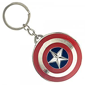 Cody Lundin Captain America Keychain Metal chain plastic shields
