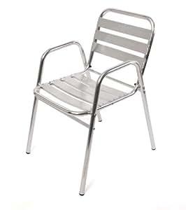 chaise de bar chaise bistro m28 aluminium 65x53x82cm. Black Bedroom Furniture Sets. Home Design Ideas
