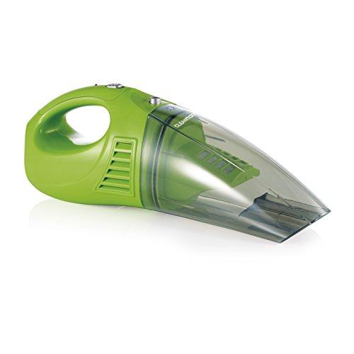 CLEANmaxx 04380 Akku-Handstaubsauger | Nass-Sauger und Trocken-Sauger in einem | Kabellos dank 4,8 V Akku | Inkl. Diverser Aufsätze | Ideal auch fürs Auto | Grün