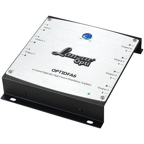 Lanzar OPTIDFA6 6 canali RCA ottiche ad alta corrente distribuzione amplificatore bilanciato