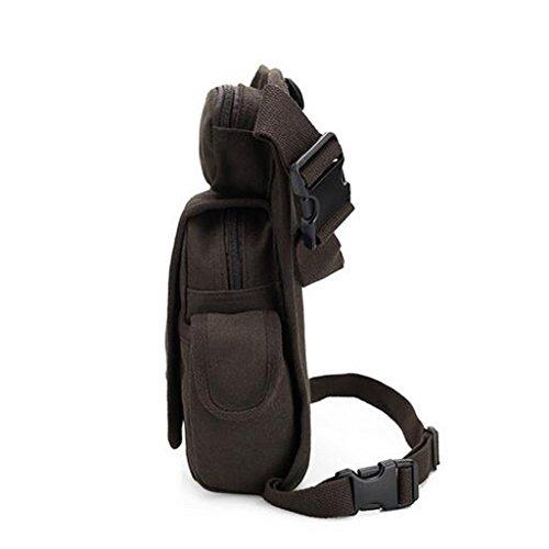 Taktische Hüfttasche / Beinbeutel / Sporttasche für Radsport, Motorradfahren, als Herren, Männer Freizeittasche / Tagetasche kaffee