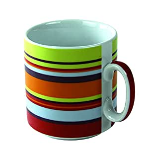 Novastyl 5084301 Lot de 6 Tasses Côte Soleil Porcelaine Multicolore 30 cl