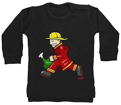 Kostüm Auto Babys Rennen - HARIZ Baby Pullover Feuerwehrmann Kanne Rennen Feuerwehr Lustig Plus Geschenkkarte Pinguin Schwarz 18-24 Monate