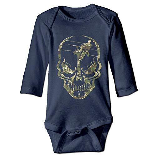 WBinHua T-Shirts für Baby-Jungen,Bertha Lineman Skull Electrician Camo Baby Newborn Long Sleeve Onesies Bodysuits