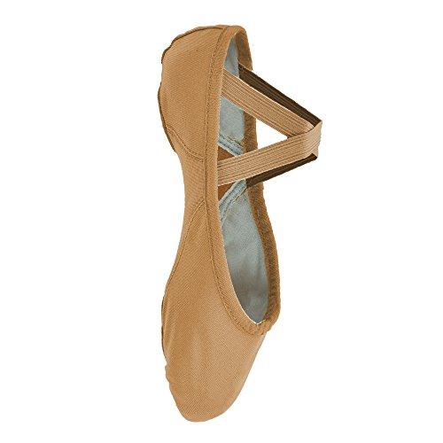 Bloch 210 Proflex tela Ballet Shoes Flesh