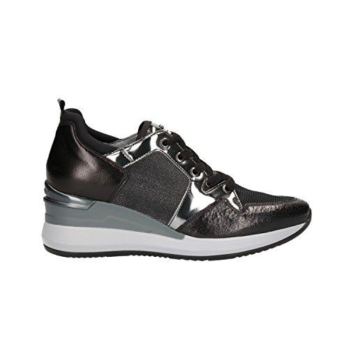 Nero Giardini Sneakers Zeppa Nero 6610 Scarpe Donna A806610D 37