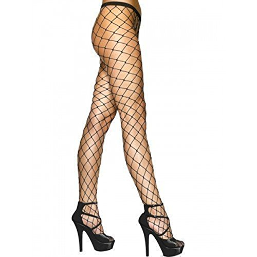 Women Sexy Black Fishnet Net Pattern Burlesque Hoise Pantyhose Tights (One size, Large FIshnet Black) Test