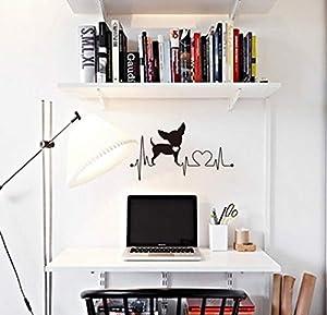 electrocardiogramas perros: Perro electrocardiograma pegatinas de pared decoración para el hogar sala de est...