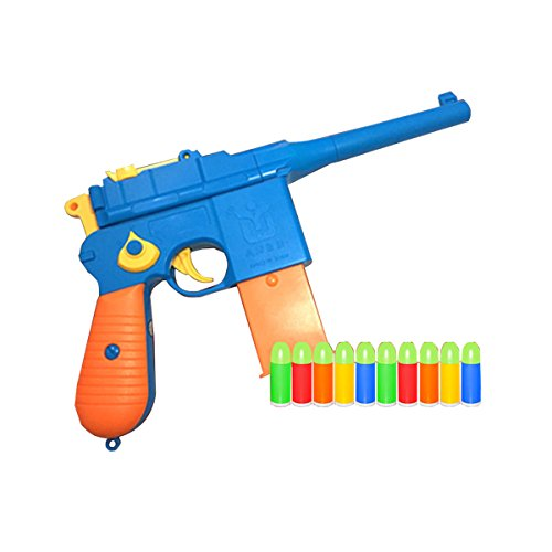 JINGYUAN Toy Gun Mauser Colorful Pistol with Set of Soft Bulles WWII (Random Color)