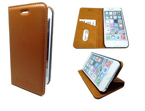 In Handarbeit gefertigtes Echt Leder iPhone 6S Plus Case Braun aus feinstem Rindsleder mit Kontrastnähten Made in Germany iPhone 6S Plus Braun