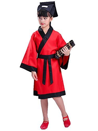 ädchen Konfuzius Kleidung Kinder Chinesischen Stil Kostüme,Rot,EU 100=Tag 110 ()