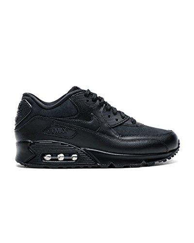 Nike Damen Air Max 90 Patent Schwarz Leder Sneaker (Patent Kinder-schuhe Pu Schwarz)