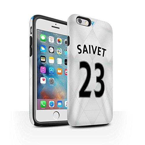 Offiziell Newcastle United FC Hülle / Matte Harten Stoßfest Case für Apple iPhone 6S+/Plus / Dummett Muster / NUFC Trikot Away 15/16 Kollektion Saivet