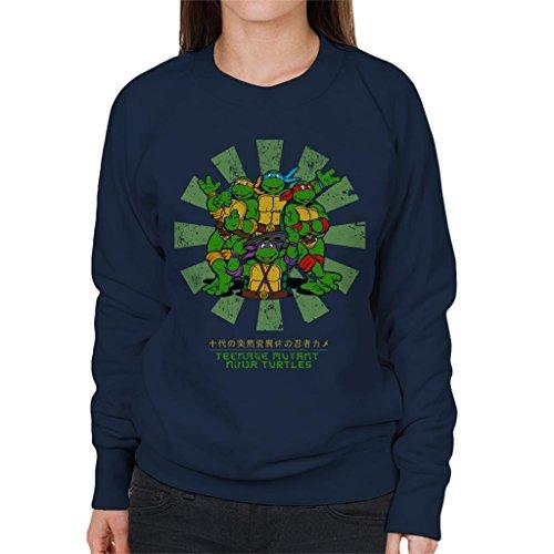 (Teenage Mutant Ninja Turtles Retro Japanese Women's Sweatshirt)