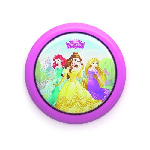 Philips Disney Princesas - Luz nocturna bombilla LED de 0.3 W, luz blanca cálida, color rosa