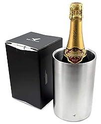 beyond Flaschenkühler für Wein und Sekt Flaschen - Doppelwandiger Edelstahl - Weinkühler, Sektkühler, Champagnerkühler