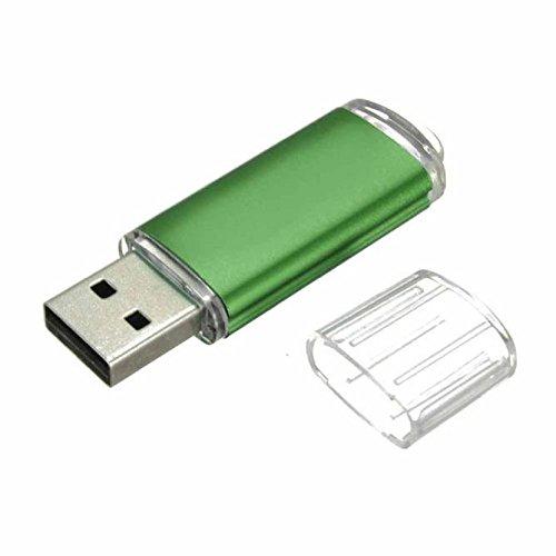 Tonsee Mini 16GB USB 2.0 Metall Flash Speicher Stick Daumen U Speicherplatte (Grün)