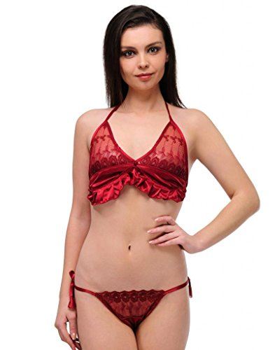 OLEVA Casual Set of 2 Lingerie Set OLG_BP7_Maroon  available at amazon for Rs.399