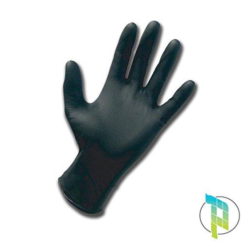Palucart® 1000 guanti in nitrile neri da lavoro taglia m per uso alimentare ed estetico