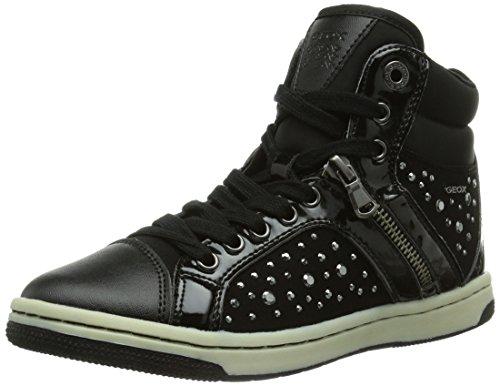 Geox JR CREAMY C, Mädchen Hohe Sneakers, Schwarz (C9999BLACK), 32 EU