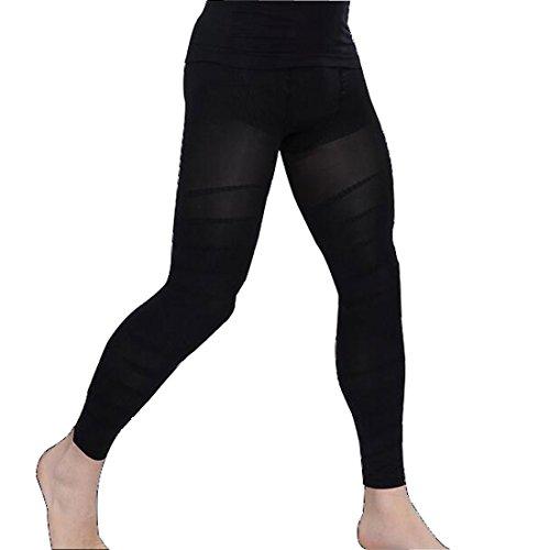 Glield Sport Leggings Herren Hosen / Herren Kompressionshose Funktionswäsche Base Layer Lang SW07 (schwarz, M) (Leichte Mikrofaser Leggings)