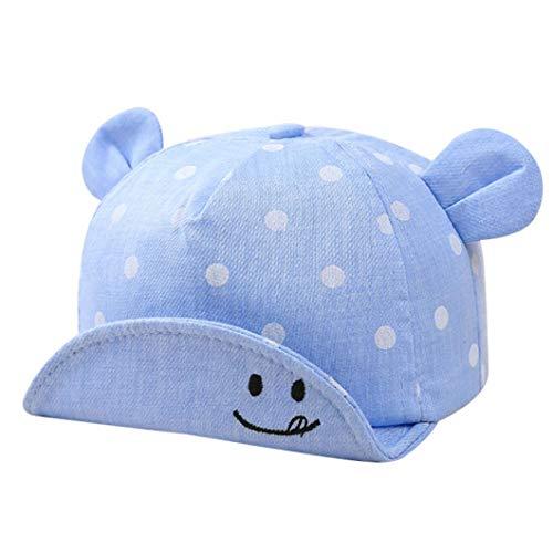 Aisoway neonato unisex cotone cappellino summer sun-protezione sunhat dot stampa con le orecchie per ragazze dei neonati
