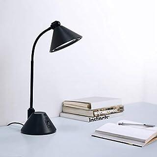 LED Schreibtischlampe, Aglaia Tischlampe 7W 12 LEDs Leseleuchte, 4200K Super Bright Lampe mit flexiblem Hals und stabilem Lampenschirm, geeignet zum Lesen und Studieren (black1)