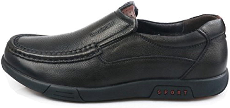 OEMPD Hombres Británicos Negocios Casual Corte Bajo Zapatos De Cuero -