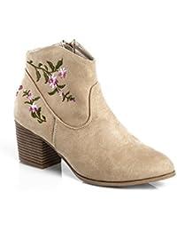 Mujer Amazon Para Botines Zapatos Y es Botas Camperos pfXfwYrq