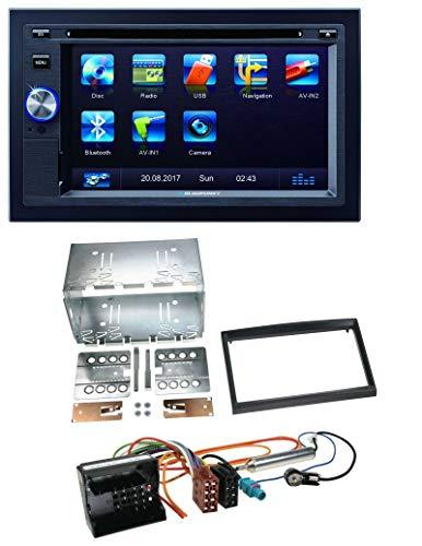 caraudio24 Blaupunkt Las Vegas 570 Bluetooth DVD USB CD 2DIN MP3 Autoradio für Citroen Berlingo C2 C3 Jumpy Profi schwarz