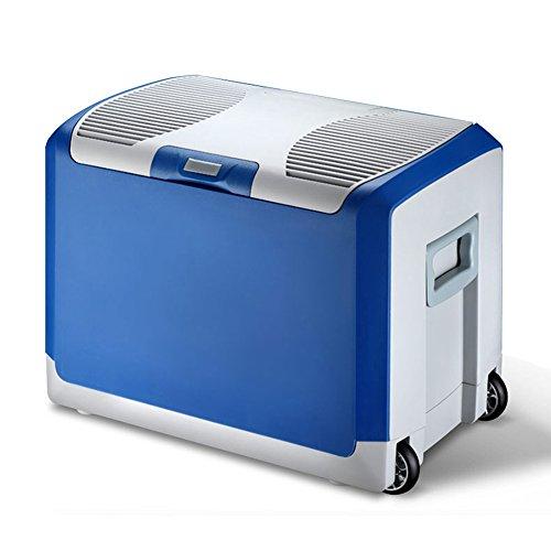 Liqicai 40l frigorifero piccolo frigo da campeggio lunch box12v dc (auto)/24 v cc (camion)/230 v ac (casa), 2 ruote robuste (colore : blu, dimensioni : for truck)