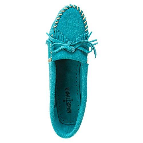 Minnetonka Kitty Brown Suede Turquoise