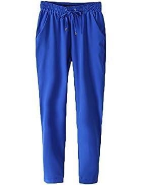 Pantalones Largo para Mujer Delgado Fit Skinny Pantalon de Chifón Cómodo Cintura Elástica Casual Harem Pantalones...