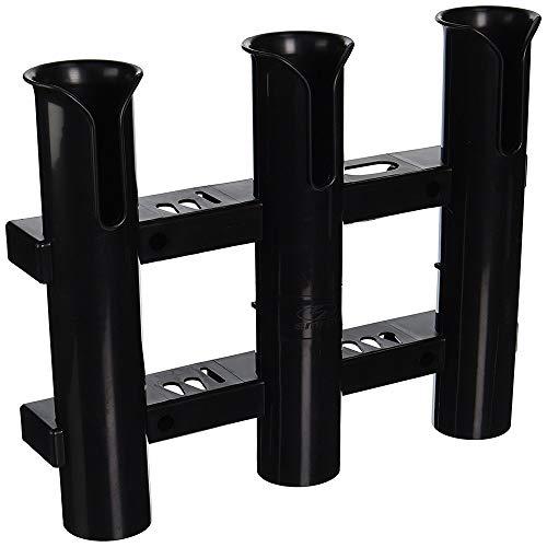 ZHYY Angelrutenhalter, Rohr 3 Rutenhalter, Angelrute für Boot Kajak Garage Lagerung oder LKW seitliche Montage (schwarz, weiß),Black
