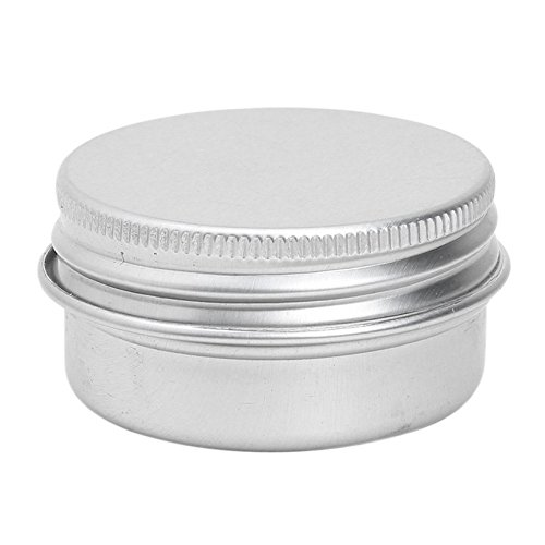 SODIAL(R) 10PCS 100ml aluminium levres Baume Pots Maquillage Cosmetique Creme Bocal Pot Flacon Contenance
